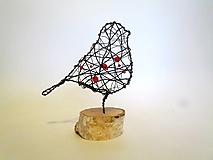 Socha - Vtáčik záhradný *14,5 cm - 12799060_