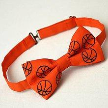 Doplnky - Oranžový motýlek s basketbalovými míči 12082097 - 12800334_
