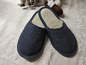 Obuv - Papuče  bodky - 12801739_