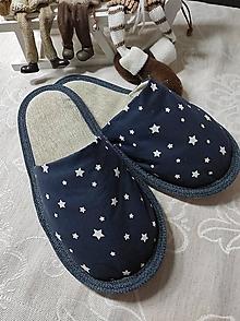Obuv - Papuče  hviezdičky - 12801749_