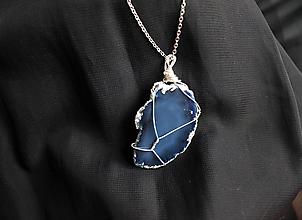 Náhrdelníky - Achát náhrdelník - 12801295_