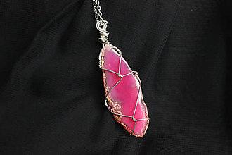 Náhrdelníky - Achát náhrdelník - 12801298_