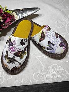 Obuv - Papuče  motýle - 12802464_
