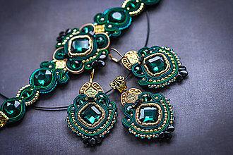 Sady šperkov - Marrakesh - sada náušníc, náramku a prívesku - 12802231_