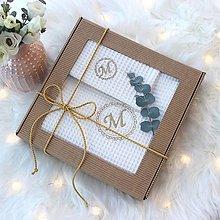 Úžitkový textil - Darčekový set uterákov pre ♥DÁMU♥ (s monogramom) - 12804126_