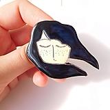 Odznaky/Brošne - S vetrom vo vlasoch brošňa #1 - 12804467_