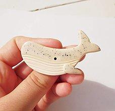 Odznaky/Brošne - Veľryba brošňa (bodkovaná) - 12803682_
