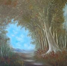 Obrazy - Cesta z lesa - 12804177_