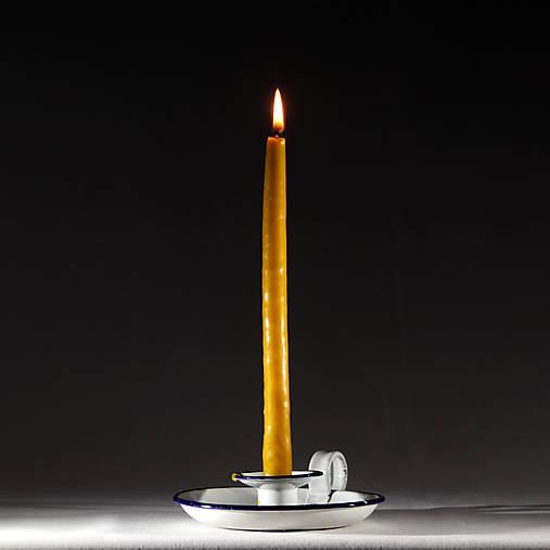 Vysoké máčané Sviečky z včelieho vosku - máčané voskovice