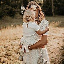 Detské oblečenie - Ľanové čukotky s mašľou - 12803984_