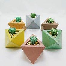 Dekorácie - Dekorácia s betónovým kaktusom Osemsten Color - 12804500_