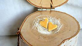 Náušnice - keramické náušnice č.303_ mini lásky (Žltá) - 12805781_