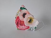 Rúška - VÝPREDAJ dámske dizajnové rúško prémiová bavlna antibakteriálne s časticami striebra dvojvrstvové tvarované - 12804732_