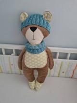 Hračky - Medvedík so šálom a čiapočkou - 12805491_