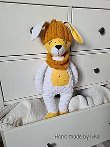Hračky - Zajačik v zimnej výbave  - /35-45 cm/ - 12805478_