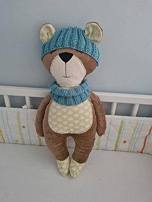 Hračky - AKCIA : Medvedík so šálom a čiapočkou  - 46 cm - 12805491_