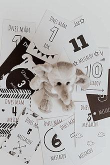 Detské doplnky - Miľníkové kartičky - Black and white - 12805405_