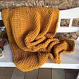 Textil - Pletená deka - veľká - 12805011_