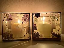Svietidlá a sviečky - Svietnik so sušenými kvetmi - 12805995_