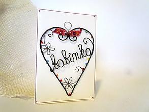 Papiernictvo - Pohľadnica - pre babku - 12804770_