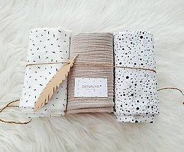Textil - Set 3ks mušelínová plienka 60x60cm žiadaný rozmer SOLID BÉŽOVÁ - 12807426_