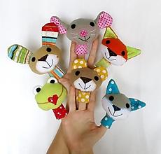 Hračky - Prstová maňuška zvieratko (na výber) - 12807951_