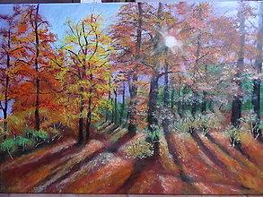 Obrazy - Jeseň, poetka (50x70) - 12806603_