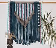 Dekorácie - Indiánske makramé na stenu - 12806553_