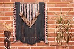 Dekorácie - Indiánske makramé na stenu - 12806556_