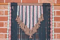 Dekorácie - Indiánske makramé na stenu - 12806557_
