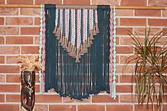 Dekorácie - Indiánske makramé na stenu - 12806558_