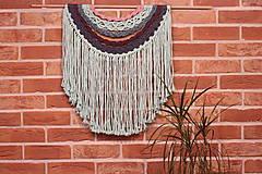 Dekorácie - Mentolové makramé na stenu MANDALA - 12806572_