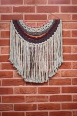 Dekorácie - Mentolové makramé na stenu MANDALA - 12806574_