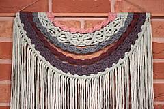 Dekorácie - Mentolové makramé na stenu MANDALA - 12806575_