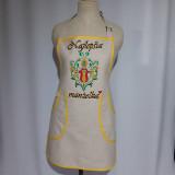 Iné oblečenie - Ručne maľovaná zástera - Slnečná kytica - 12807673_