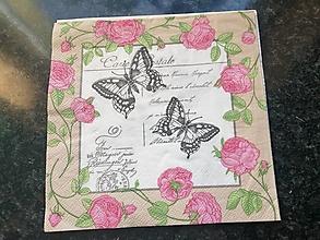 Papier - motýliky - 12806672_