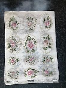 Papier - ruže - 12806851_