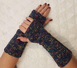 Rukavice - Pletené návleky na ruky - 12808287_
