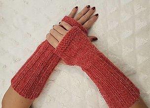 Rukavice - Pletené návleky na ruky - 12810186_