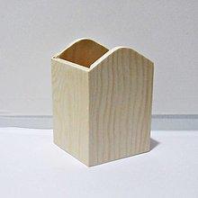Polotovary - Drevený stojan na ceruzky - 12810639_