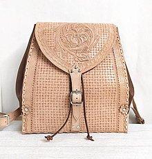 Batohy - Kožený batoh RIANA - 12808096_