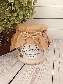 """Svietidlá a sviečky - Sójové sviečky 310g - """"zaváraninka"""" (Vanilkový lusk) - 12810874_"""