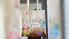 Nákupné tašky - ♥ Plátená, ručne maľovaná taška ♥ - 12808111_