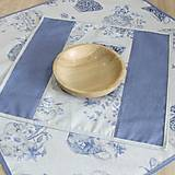 Úžitkový textil - LINA 2 - kvetinové šálky na sivom melíre - štvorec - 12810795_