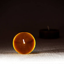 Svietidlá a sviečky - Veľká čajová sviečka bez kalíšteka - 12808431_