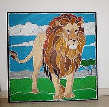 Obrazy - Lev - kráľ džungle - 12810844_