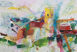 Obrazy - Žltá veža - 12810096_