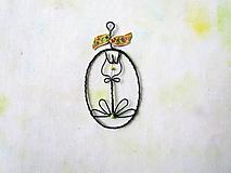 Dekorácie - Kvietok žltý - 12809111_