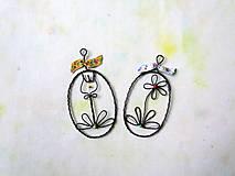 Dekorácie - Kvietok žltý - 12809115_