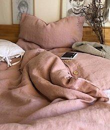 Úžitkový textil - Ľanové obliečky Klaudia - 12809841_